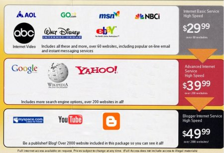 Net Neutrality deceptively shown as a cable company